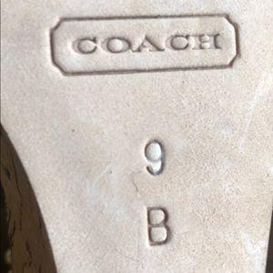 Coach Shoes - Coach Gold Wedge Sandals